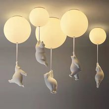 Modern Cartoon Bear LED Ceiling Lights Warmth Ceiling Lamps Kids Rooms Bedroom Lamp Living Room for Home Decor Lighting Fixtures