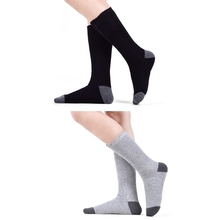 Unisex Winter Thermal Warm Electric Heated Crew Socks with Rechargeable Battery