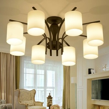 LED ceiling master bedroom lights American study restaurant living room lights Nordic pastoral simple lamps and lanterns