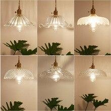 Nordic American rustic creative retro single head glass chandelier restaurant bar personality art all copper chandelier