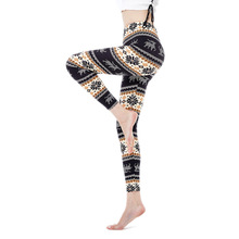 Pencil-Pants Body-Suction Print Slimming Close-Fitting Winter Fashion Buttock Sweat Snowflake