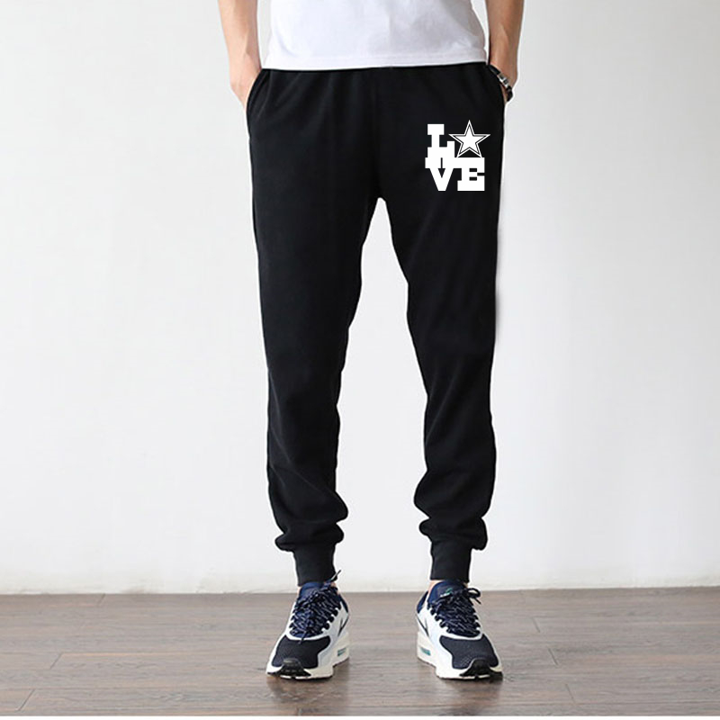 Love Dallas Football New Sweatpants Men And Women Trousers Casual Sports Pants Lover Sweatpants Cotton Pants Plus Size S - 4XL