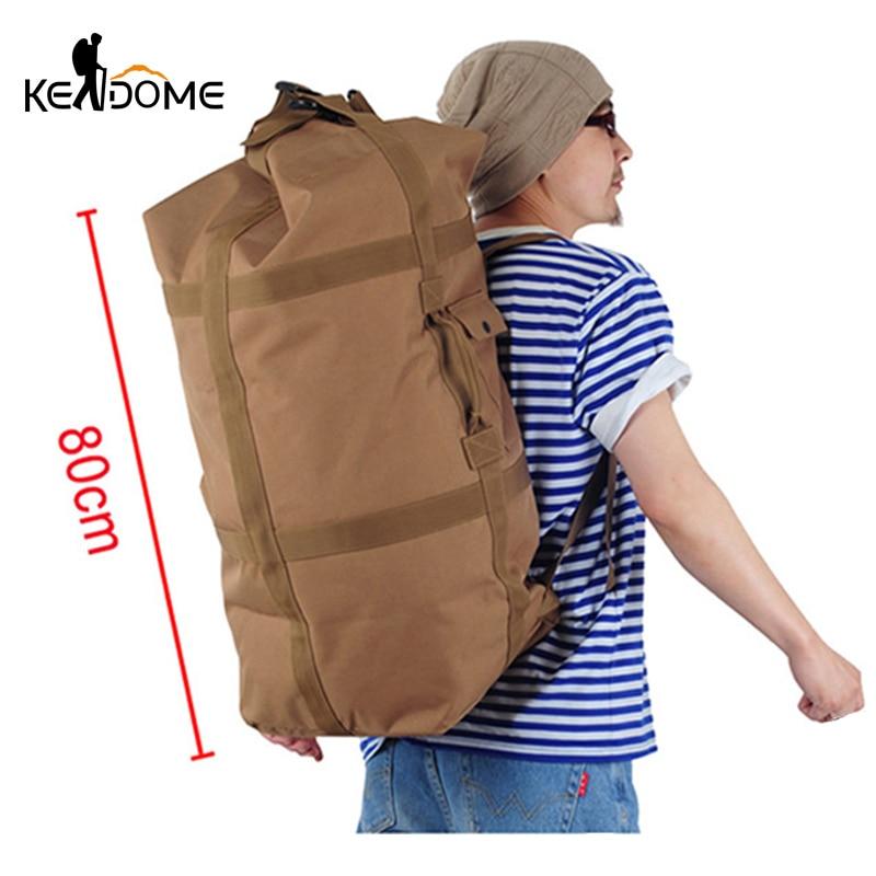 Large Capacity Men Hiking Backpack Travel Bag Nylon Bucket Handbag Climbing Mountaineering Camping Trekking Blaso Sport XA160D