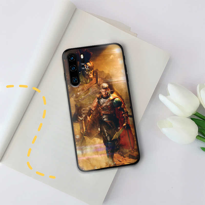 MARVEL Captain Marvel Cao Cấp Ốp Lưng Dẻo Đen Cho Huawei P Smart Z 2018 P20 Pro P8 P9 Mini P10 P20 2019 P30 LITE Bao