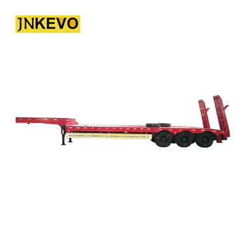 80 ton Heavy Duty 3 osie niskopodłogowa naczepa siodłowa do maszyn tanie i dobre opinie Przyczepa 8000kg 80000kg 3 65m Steel 16tons axle * 3 pcs 10000kg 12 00R20 12pcs 5mm diamond plate 2 or 3 5 28ton 13000x3000x3650mm