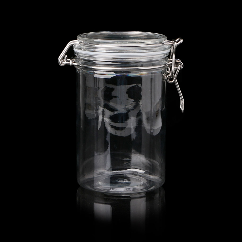 Прозрачная банка для хранения пищевых продуктов с воздухом плотный герметичный металлический крышка-зажим для молочного порошка кухни