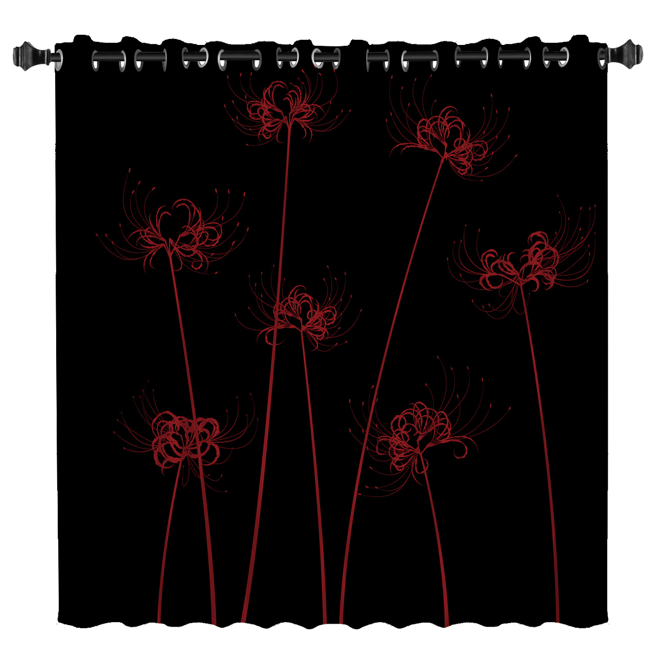 Lycoris Radiata Window Curtains Dark Window Blinds Living Room Outdoor Bedroom Indoor Kids Curtain Panels With Grommets Window