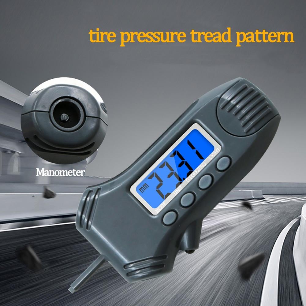 3 in 1 car tire pressure tire tread depth gauge LCD digital multi function tire barometer Tire pressure measurement|Rulers| |  - title=