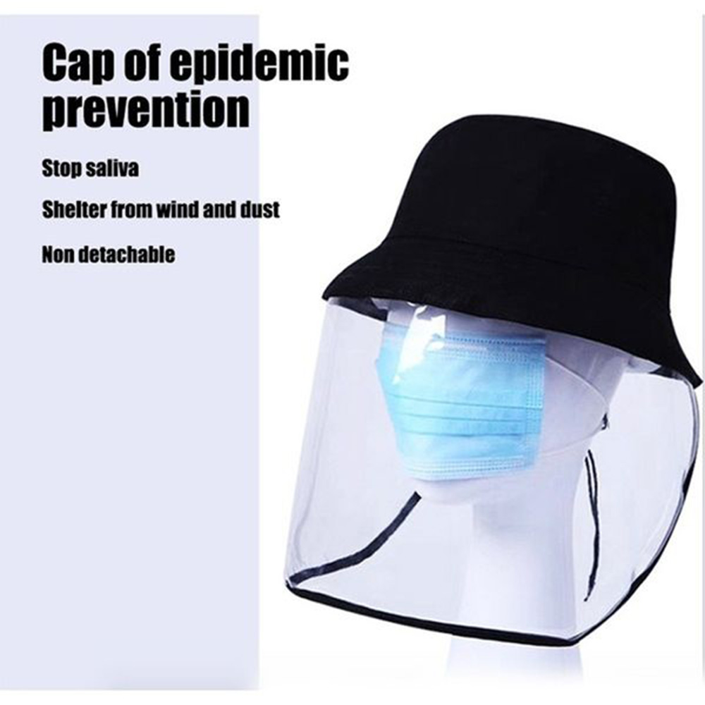 Multi-function Protective Cap Anti-Saliva Protective Hat Protective Cap Anti-Dust Dustproof Splash Anti-Spitting Mask Face Cover