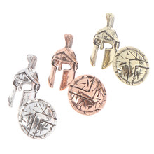 1set umbrella rope pendant bracelet accessory Paracord bead knife lanyard DIY pendant buckle metal charm(China)