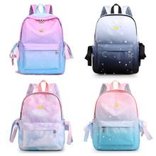 Korea women Backpacks School Children School Bags For Girls Primary School Book Bag School Cartoon Bags Printing Backpack cheap NYLON zipper 0 5kg Nylon polyester 38cm 1B-011 29cm