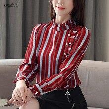 Semfri Chiffon Office Womens Shirt 2020 Spring Autumn New Fa