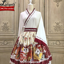 Fortune Cat ~ Kimono Style Lolita Blouse Japanese Cardigan Top by Alice Girl ~ Pre-order