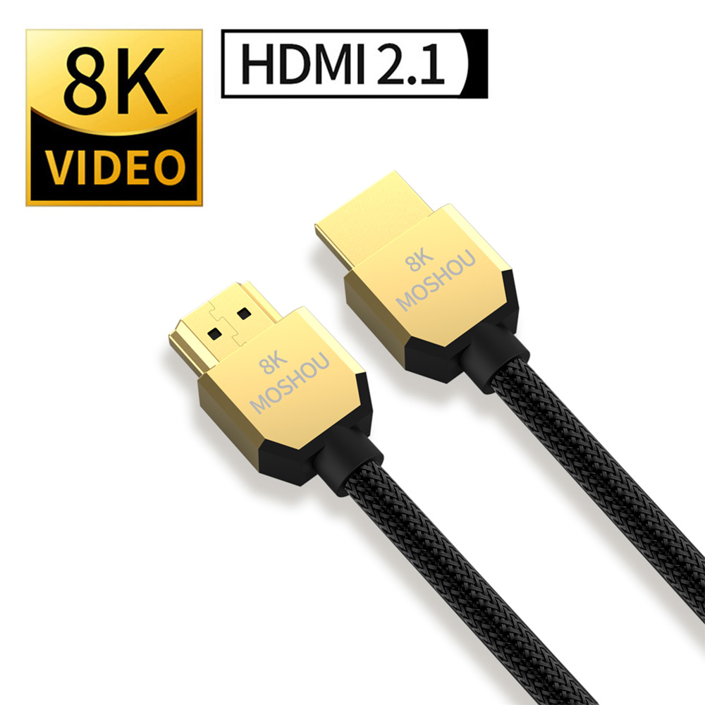 MOSHOU 8K 60Hz 4K 120Hz HDMI 2 1 Cables 48Gbps ARC HDR 3D HiFi Extremely Thin Video Cord for Switch lite PS4