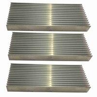 Dissipador de calor de alumínio 100x40x11mm do dissipador de calor do amplificador de potência de 3 pces