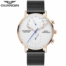 GUANQIN Mens Watches Top Brand Luxury Chronograph W