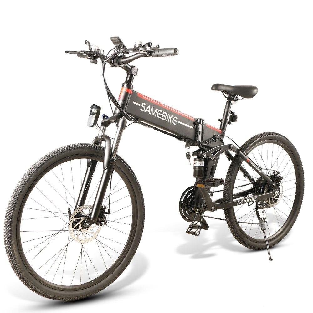 """Samebike LO26BKFT 26"""" Aluminum alloy Electric Bicycle 48V 10AH 500W Electric Bike e-Bike 21S Shifting Spoke Wheel 20"""" Tire"""