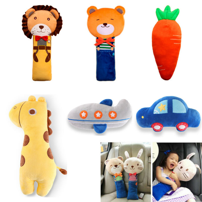 New Kid Children Cute Cartoon Animal Car Safety Strap Cover Harness Pillow Shoulder Seat Belt Pad Cushion