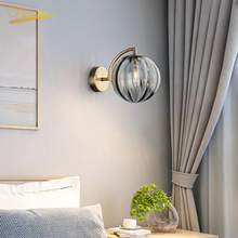 Modern LED Metal Wall Lamp Nordic Color Glass Wall Lights Lighting American Creativity Cafe Loft Living Room Lamp Bedroom Light loft style clear glass wall lamp black metal glass ball wall light bedroom light dining room light free shipping
