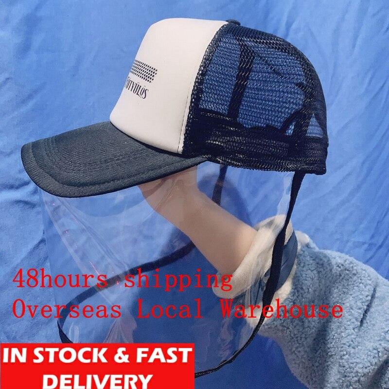 Anti Protective Mask Anti-spitting Anti-droplet Splash-proof Hat Fisherman Cap Face Cover Cap Children Men Hat Transparent