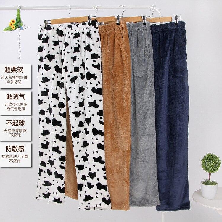 Flaneel  Pajama Pants Men Sleep Wear Lounge Wear For Winter 1540
