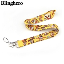 CA1362 Cartoon Squirrel Cell Phone lanyard For key ID Card Pass Gym USB Badge Holder DIY Hang Rope Tags Ribbon Neck lanyards mbr cell power neck