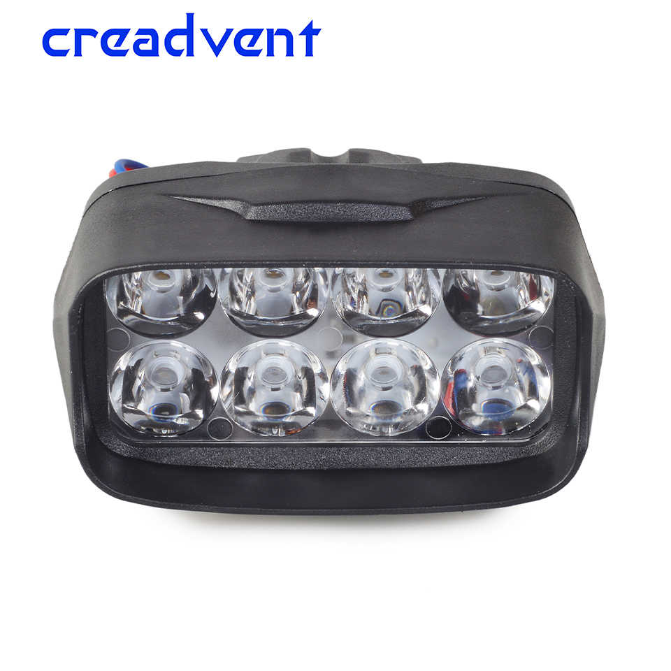 1Pcs Super 1200LM Motorcycle Led Headlight 12W Universal Scooter Motorbike Spotlight 6000K White Car DRL Fog Lamp Accessory