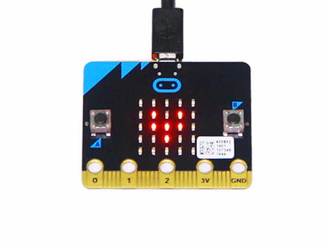 Micro BBC: bit NRF51822 Cortex-M0 bras Bluetooth, micro-contrôleur avec détection de mouvement, boussole, affichage LED