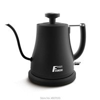 Electric Stainless Steel Coffee Drip Gooseneck Kettle Pot with thermometer Teapot Kettle Tea Maker Hight Quality Bottle 220v