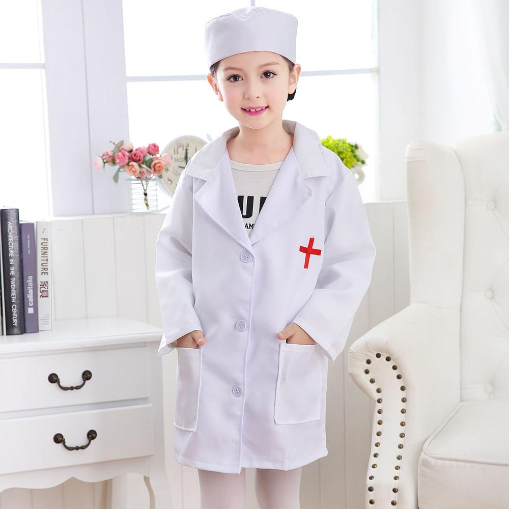 Cosplay Costume for Kids Performance Girls Nurse Clothing Halloween Party Wear Boys Doctor Coat Outfit Children Fancy Uniforms Костюм