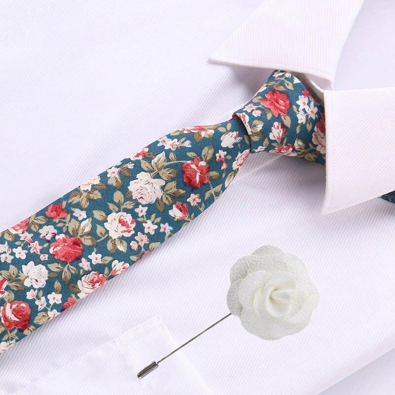 Luxury Brooch Tie Set Classic Men Plaid Necktie Bowknots Ties Male Cotton Skinny Slim Ties Colourful Cravat Wedding Party