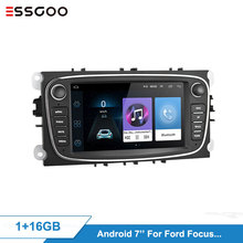 Essgoo 7'' Android 8.1 Car Radios For Focus For S-max For Mondeo 9 For Galaxy II 2 Din Car Multimedia Player GPS Navigation