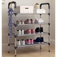 Новая современная многослойная полка для обуви, простая домашняя Пылезащитная сборка, обувной шкаф для общежития, многоцелевая обувная сто...