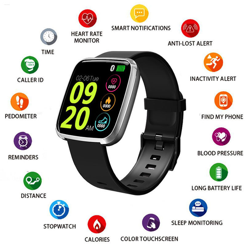 Smart Watches Waterproof Sports For Iphone Phone Smartwatch Heart Rate Monitor Blood Pressure Functions For Women Men Kid Reloj