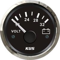 Pack of 1 18 32v Pointer Type Voltmeters 24v Volt Meters 52mm Voltage Gauges for Auto Truck RV Boat Yacht