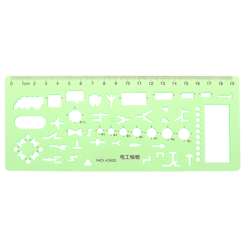 Plastic Geometric Template Ruler Stencil Measuring Tool For Electrician Formwork