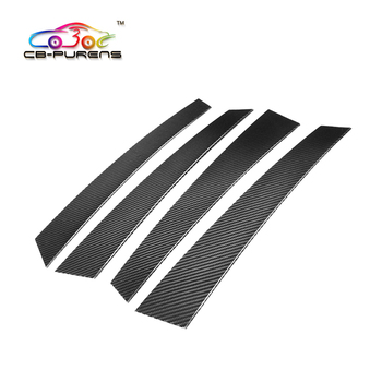 Gloss Black Carbon Fiber Add On Style Car Side Window Pillar Post Trim for Panamera971 2017- 4 pieces