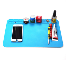 300*200mm Insulation Pad Heat Resistant Silicon Soldering Mat Work Pad Desk Platform Solder Rework Repair Tool Station