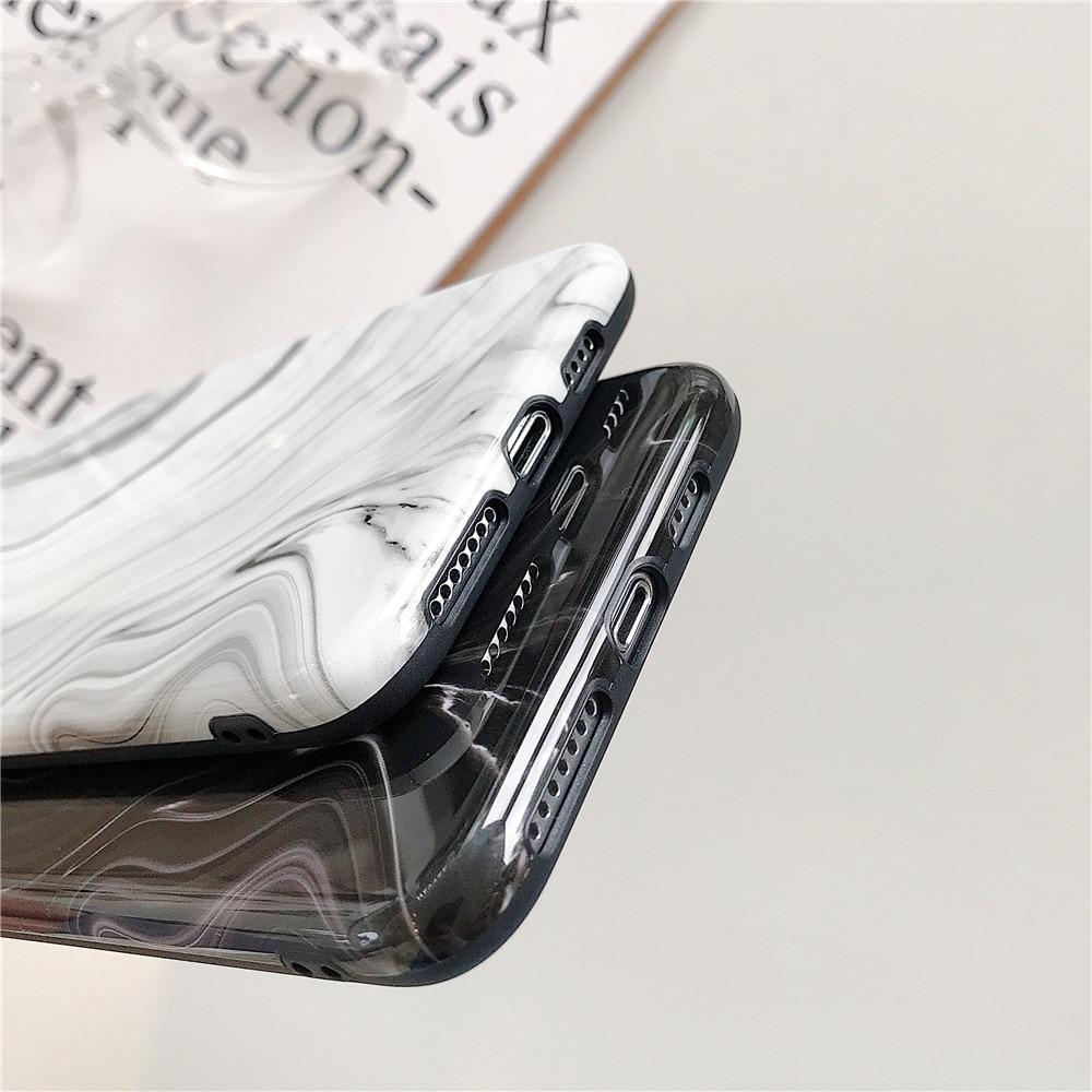 Мраморный чехол для телефона для iPhone 11 Про SE2020 х ХС хз Макс 7 8 Plus Силиконовый ретро граффити мягкая IMD любителей задняя крышка