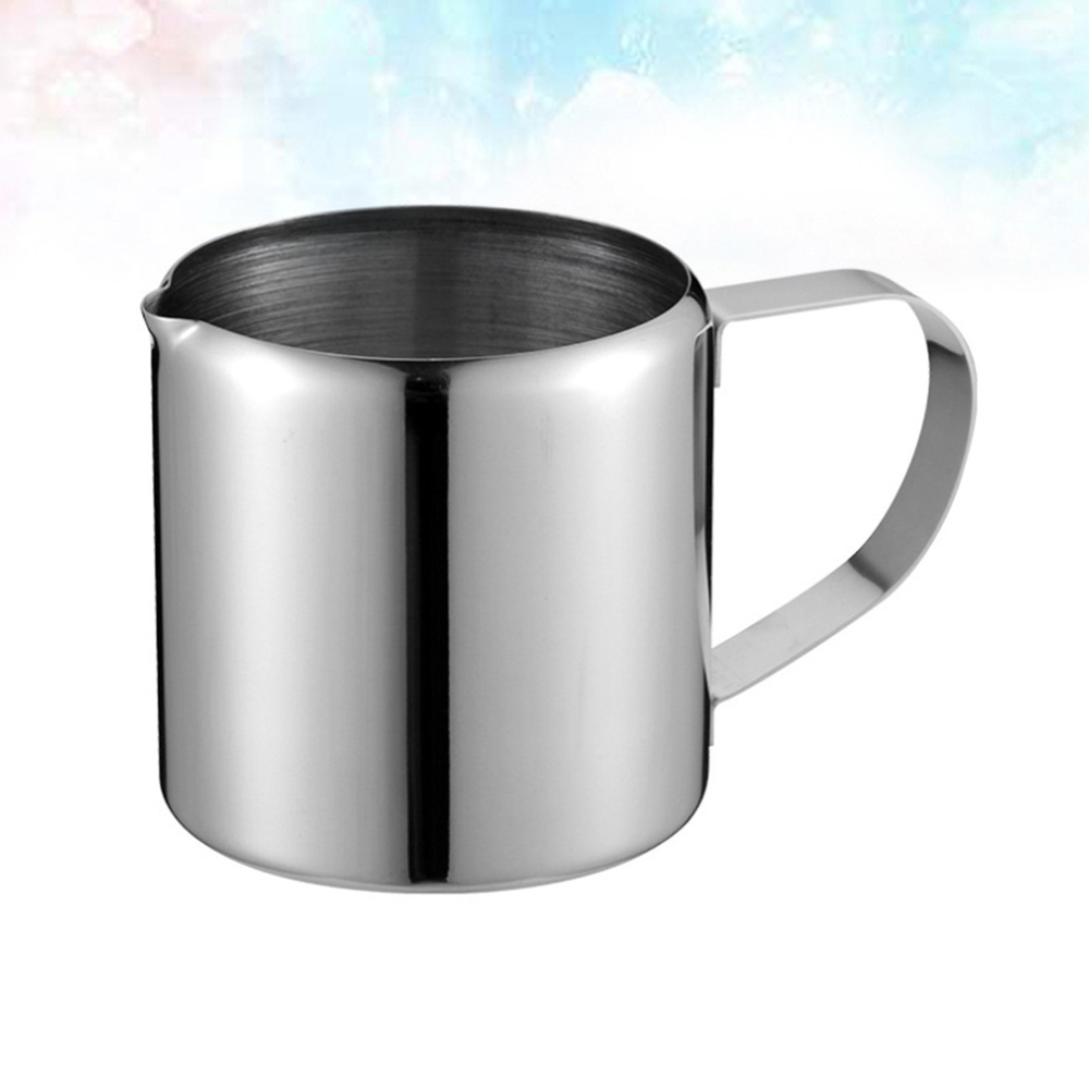 1pc Stainless Steel Cup Saucer Container Large Capacity Portable Durable for Home Room (Silver 85.5ml)