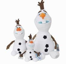Cute 23CM Snowman Olaf Plush Toy Soft Stuffed Kids Christmas Toys Olaf Snowman Doll Birthday Gifts(China)