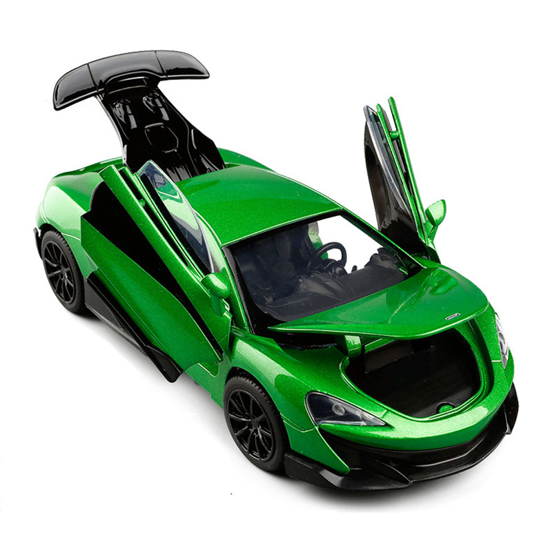 600LT 1/32 Coupe Simulation Toy Vehicles Model Alloy Pull Back Children Toys Genuine License Collection Gift Off-Road Car Kids
