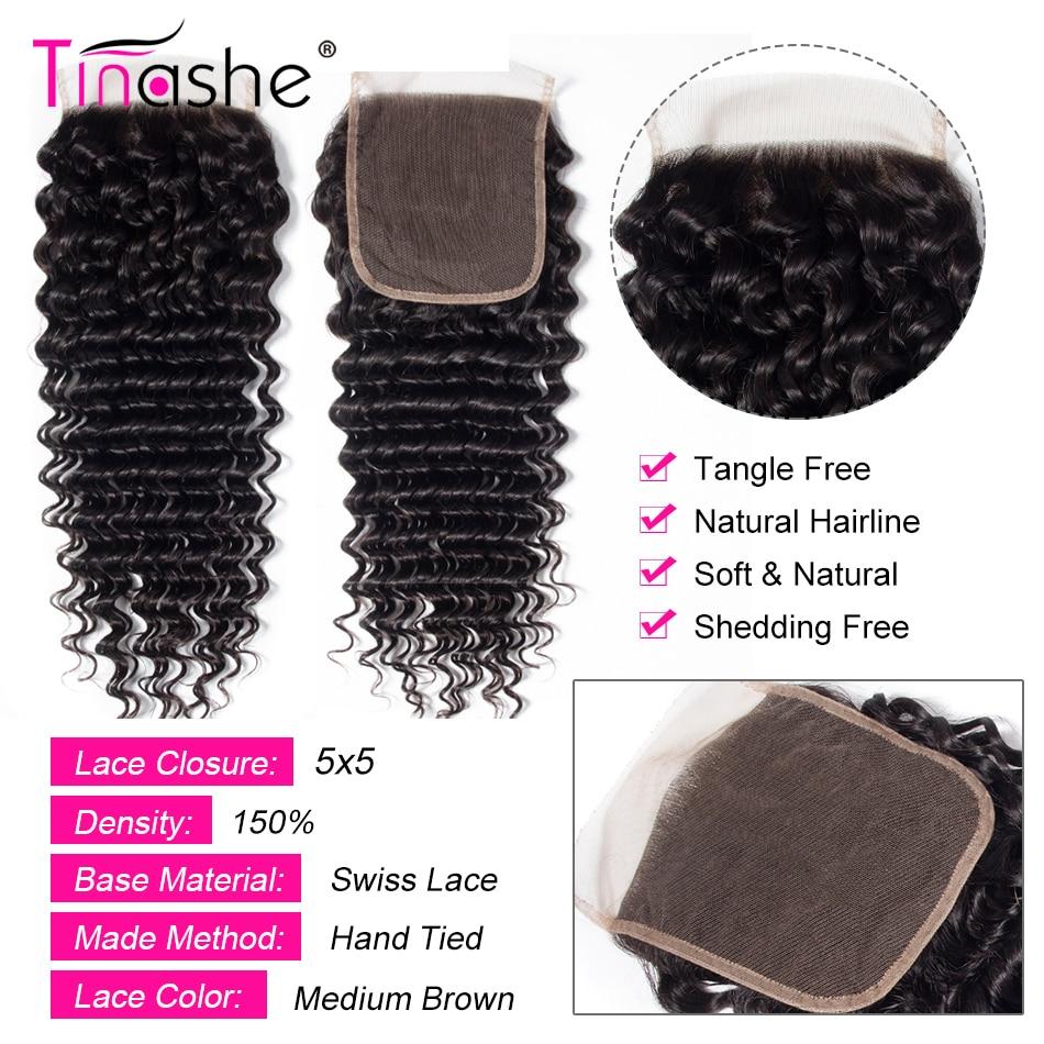 Hc935e28bbf4244ba8c71d0159f12cc2c6 Tinashe Deep Wave Bundles With Closure 5x5 6x6 Lace Closure And Bundles Remy Brazilian Human Hair Weave 3 Bundles With Closure
