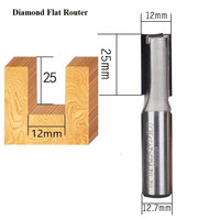 Diamond wood cutter router bit woodworking Cutting Edge Straight Flute milling cutter Polishing Tool for solid wood veneer