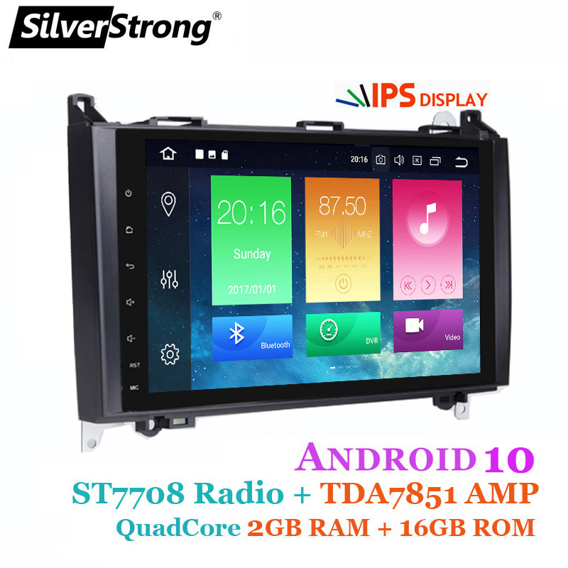 SilverStrong IPS Android10 CarPlay Android Auto <font><b>GPS</b></font> for <font><b>Mercedes</b></font> Benz Sprinter B200 <font><b>B180</b></font> W169 W209 W245 with Radio WIFI image