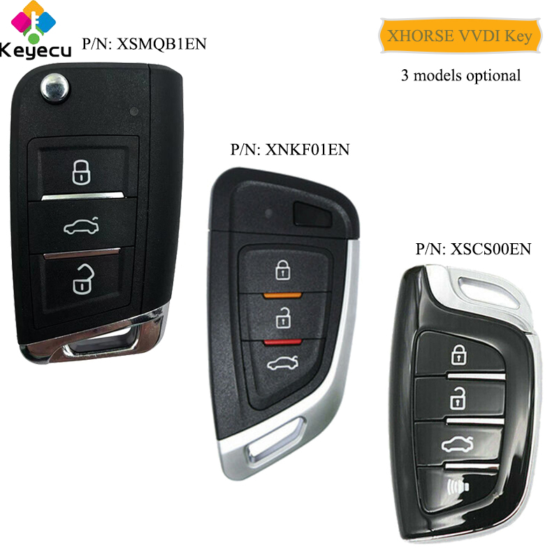 KEYECU XHORSE ( English Version ) Universal Smart Proximity Control Car Key - FOB For VVDI Key Tool, VVDI Mini Key Tool VVDI2