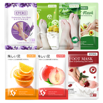 EFERO Lavender/Aloe Foot Peeling Mask Exfoliating Feet Mask Remove Dead Skin Callus Socks for Pedicure Socks Feet Skin Care efero exfoliation for feet mask remove dead skin heels foot peeling mask for leg exfoliating foot mask pedicure socks foot patch