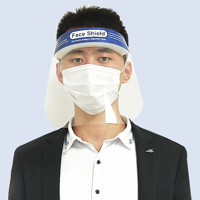 2pcs Anti Virus Full Covering Face Shield Anti Droplet Saliva Mask Facial Protective Mask Hat Eyes Protection Adjustable Visor 1