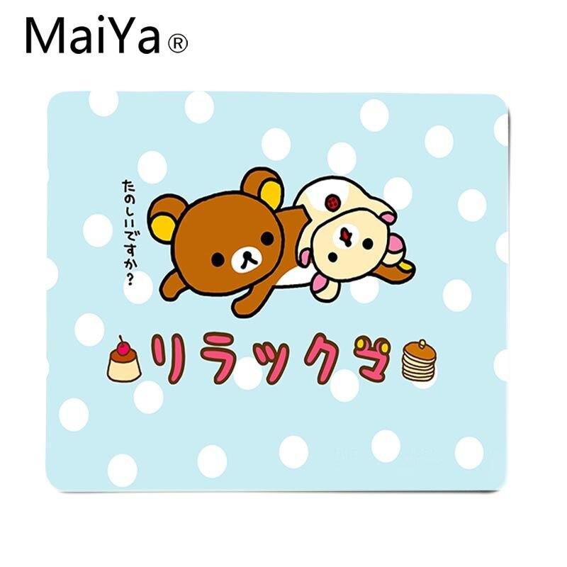 Высококачественный Прочный резиновый коврик для мыши Maiya Cute rilakkuma, бесплатная доставка, большой коврик для мыши, коврик для клавиатуры-1