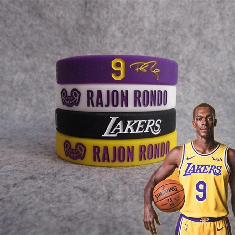 Lakers Basketball Star Rajon. Rondo Londo Signature Night Light Sports Bracelet Silica Gel Wrist Strap James Kobe